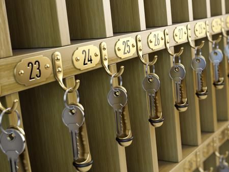 cardkey: Hotel keys at reception
