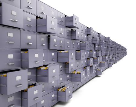 File cabinets Standard-Bild