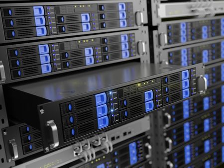 renderfarm: Computer rack servers