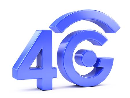 4g: 4G icon isolated on white Stock Photo