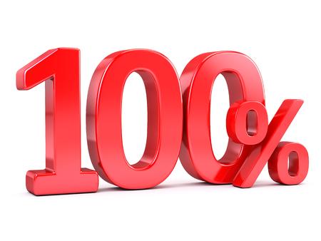 percent sign: 100 percent %