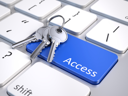 logon: Access button with keys on a computer keyboard