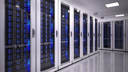 データ センターのサーバー ルーム