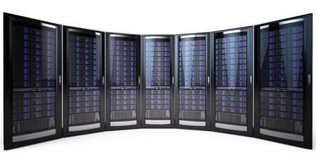 renderfarm: network server racks