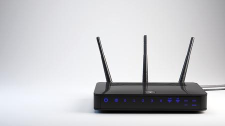 Wi-Fi wireless router - 3d render