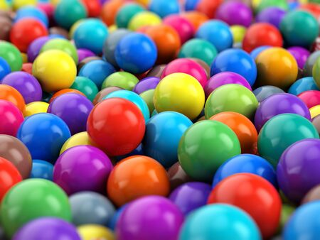 colorful background: Colorful Balls spheres background - 3d rendering