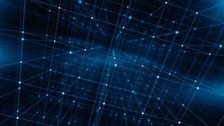 Concept of Network, internet communication, Big Data - Technology background - 3d illustration