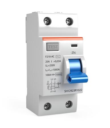 Circuit breaker isolated on white - 3d render