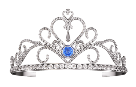 Princess Diadem, Tiara isolated on white. 3d render