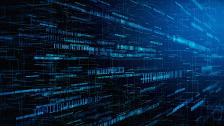 Computer code concept - digital binare code background. 3d illustration Reklamní fotografie