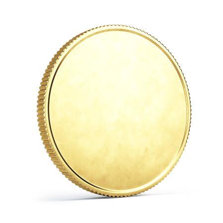Pièce d'or isolé sur blanc - illustration 3d Banque d'images - 94727619