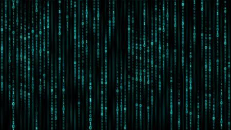 Digital information concept - binare code background. 3d render Banque d'images - 95048232