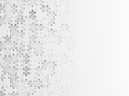 Fond de puzzle blanc - rendu 3d Banque d'images - 94913111