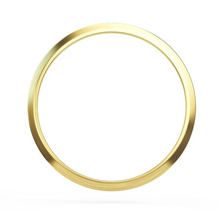 Bague en or isolé sur fond blanc - illustration 3d Banque d'images - 94840127