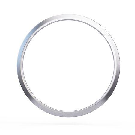 Bague Metall isolé sur fond blanc - illustration 3d Banque d'images - 94849355