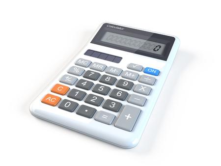 Calculatrice sur fond blanc Banque d'images - 94840128