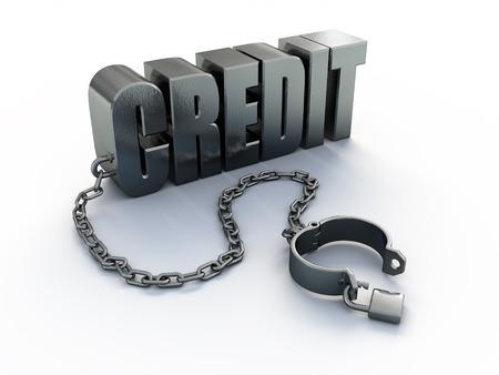 Crédit et manille Banque d'images - 94816482