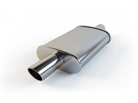 Car muffler on a white background 版權商用圖片