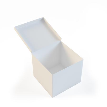Boîte blanche ouverte et vide Banque d'images - 94849358