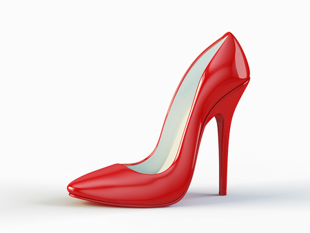 Red high heel shoe Archivio Fotografico