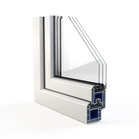 Profil de fenêtre en plastique Banque d'images - 94890948