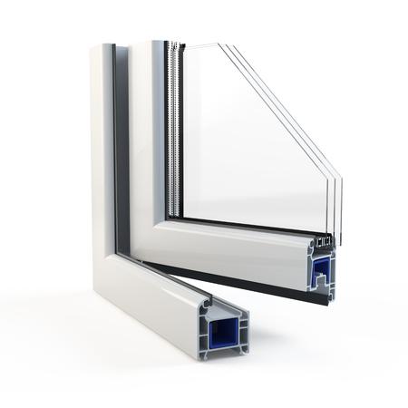 Profil de fenêtre en plastique Banque d'images - 94856051