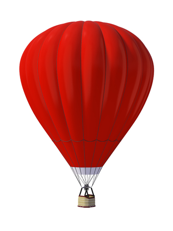 Hot air ballon isolated on white background Banque d'images - 95968730