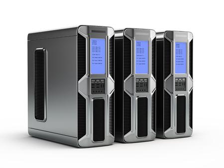 Serveurs informatiques Banque d'images - 97502485