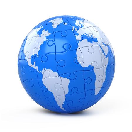 Terre terre recueillies de puzzle Banque d'images - 97505446