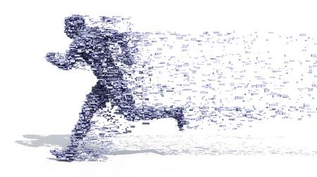 Running man des blocs Banque d'images - 98146756
