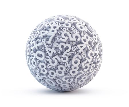 Sphère de nombres Banque d'images - 98146763
