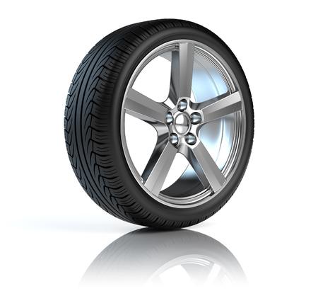 Car wheel Banque d'images - 122856105