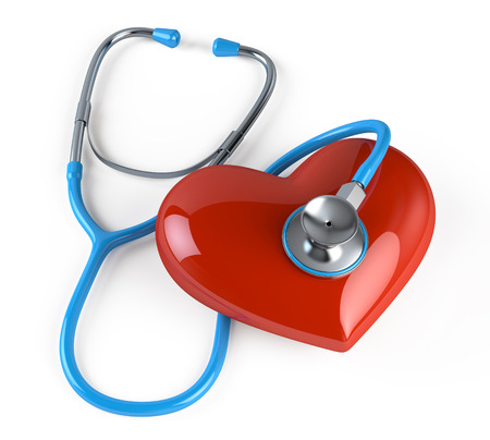 Stethoscope and heart Banque d'images - 122856123