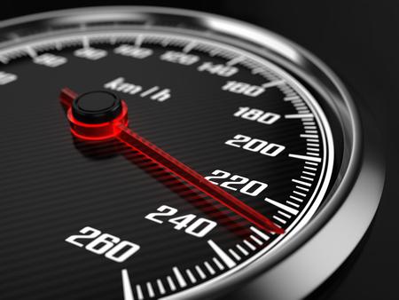 Compteur de vitesse noir Banque d'images