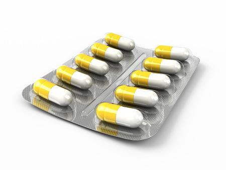 Pills 3d illustration