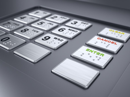 ATM machine keypad numbers Stock Photo