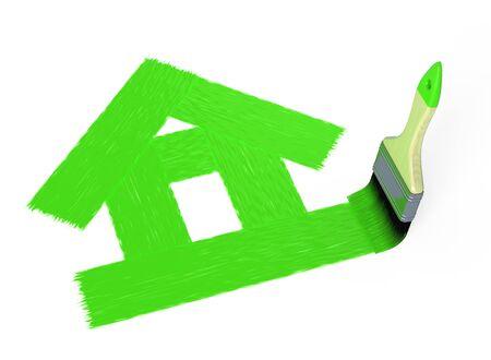 House painting Stockfoto