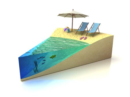 Piece of Vacation - beach rest concept