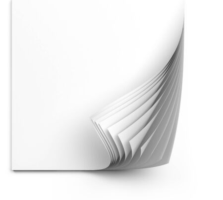 White paper sheets isolated on white