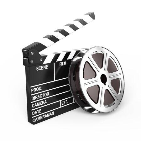 Film and clap board - video icon
