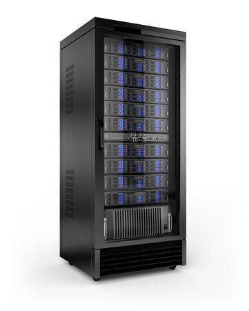 Rack para servidores Foto de archivo