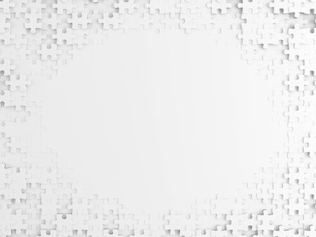 White Puzzle  with copy space