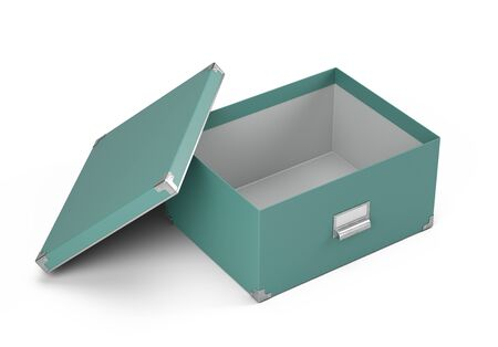 Open Storage box isolated on white background - 3d rendering