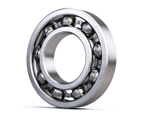 Ball bearing isolated on white. 3d rendering