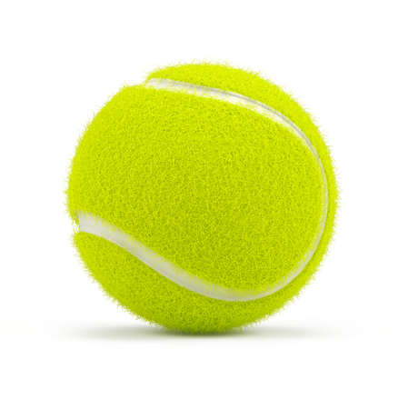 Tennis ball isolated on white - 3d rendering