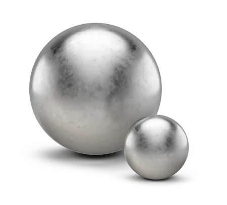 Big and small concept. big and small spheres. 3d rendering