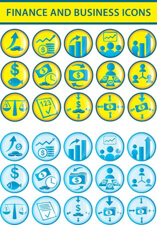 medium group of people: Finance and business icons illustration Illustration