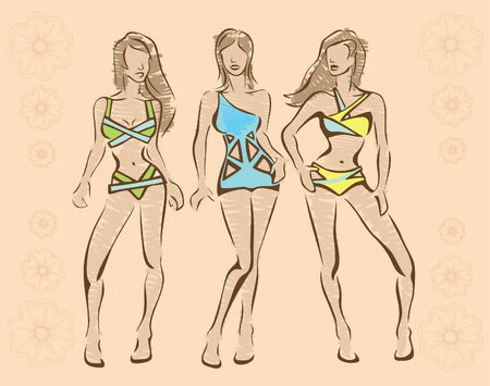 The sketch of swimwear Vector