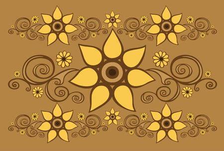 Background with floral patterns Vector