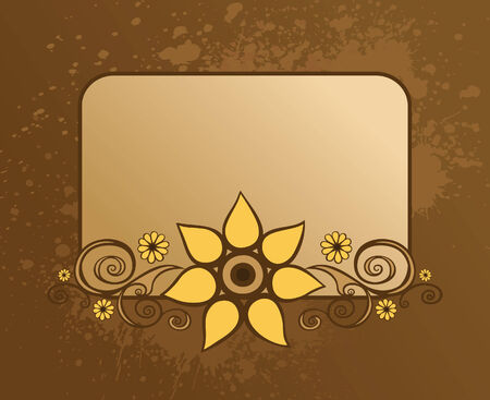 Frame with floral design element Vector